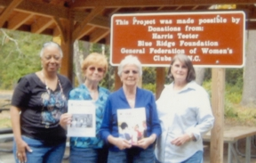 Club members at the Linville Falls classroom on the Blue Ridge Parkway