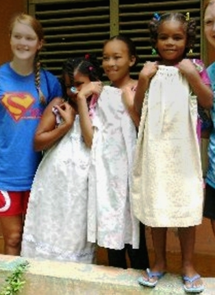 BWC Little Dresses arrive in the Dominican Republic